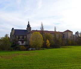 Bouzonville, Buildings of the former Abbey Sainte Croix upon the Nied