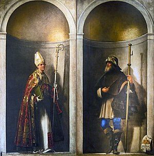 San Bartolomeo, Venice - Image: Accademia Saint Louis of Toulouse and Saint Sinibald by Sebastiano del Piombo