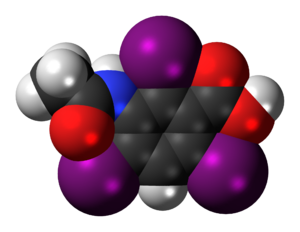 Acetrizoic acid - Image: Acetrizoic acid 3D spacefill