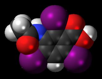 Acetrizoic acid - Image: Acetrizoic acid 3D spacefill