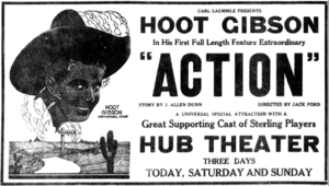 Action (1921 film) - Ad for the film in the Casper Daily Tribune (Wyoming), October 21, 1921