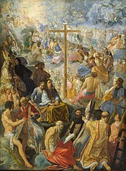 The Exaltation of the Cross from the Frankfurt Tabernacle, c1605, 48 x 35 cm