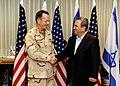 Admiral Mullen Shakes Hands With Israeli Defense Minister Barak (4740380096).jpg