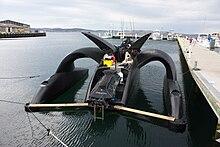 Il retro del trimarano Ady Gil, della flotta di Sea Shepherd, danneggiato in seguito alla collisione con una baleniera giapponese il 6 gennaio 2010