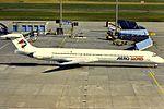 AeroLloyd MD-80 D-AGWB at FRA (32026442566).jpg