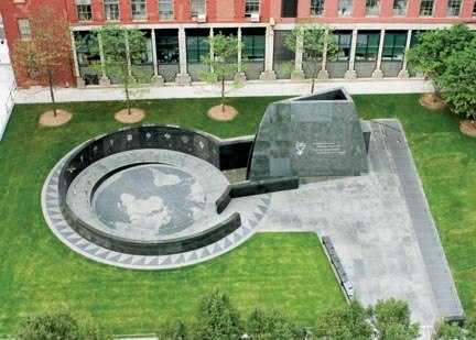 African Burial Ground-aerial view-NYC