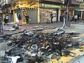 After Mong Kok civil unrest Road ashes.jpg
