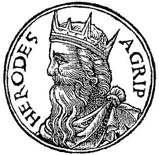 Herod Agrippa king of Judea from Herodian dynasty