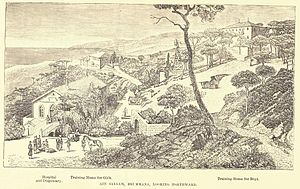 Brummana - 19th-century drawing of Brummana