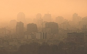 Heavy air pollution in Tehran Air pollution of Tehran - 5 January 2013 06.jpg