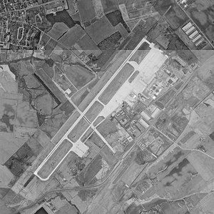 Wilmington Air Park - USGS aerial image as of 22 March 1994 (only one runway at the time)