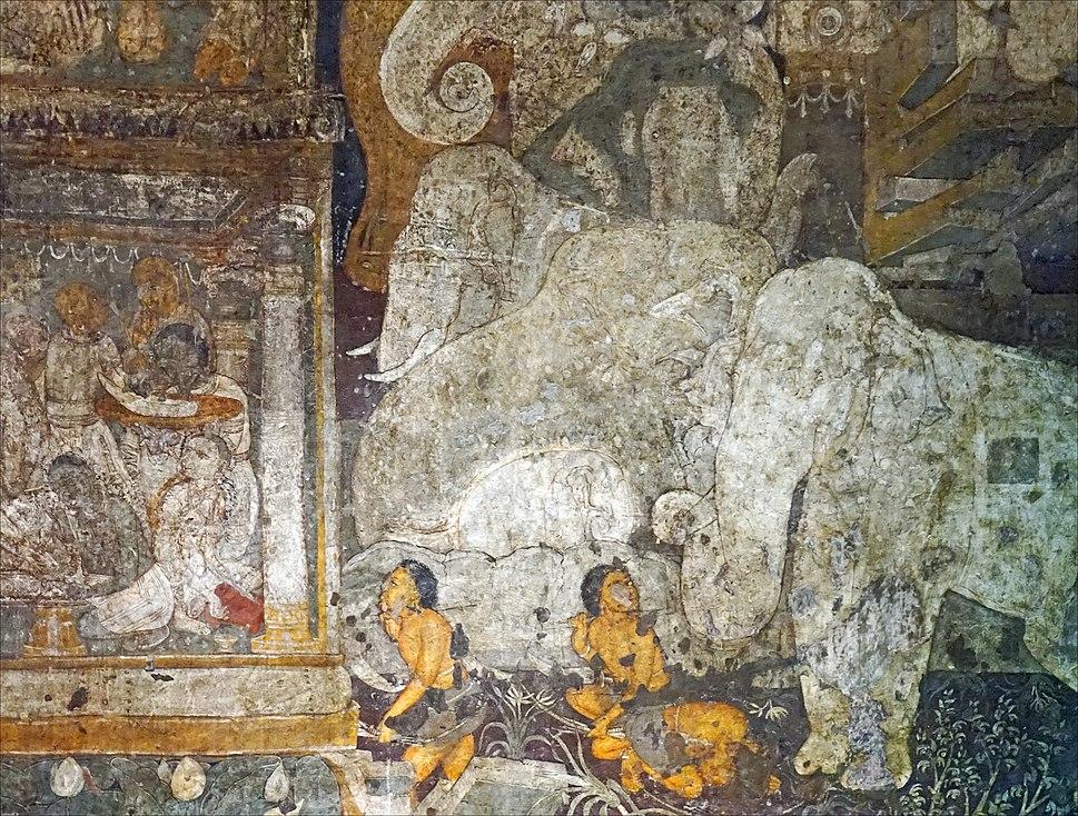 Ajanta Cave 17 Shada-Danta Jataka