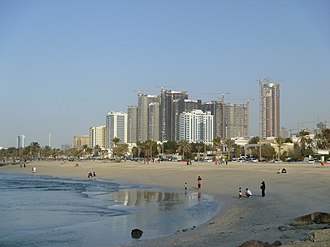 Ajman One Project from Beach - panoramio.jpg