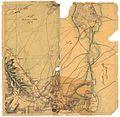 Akershus amt nr 116-4- Kroki i blyant på tykt papir av terrenget hovedsakelig vest for Jessheim og syd for Gardermoen, 1853.jpg