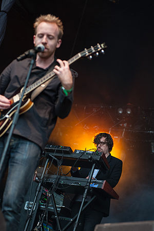 Hot Chip - Al Doyle and Felix Martin at Popaganda Music Festival 2013 in Stockholm, Sweden