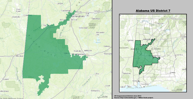 Map Of Georgia 7th Congressional District.Alabama S 7th Congressional District Wikiwand