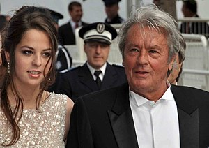 Alain Delon - Delon with his daughter Anouchka at the 2010 Cannes Film Festival.