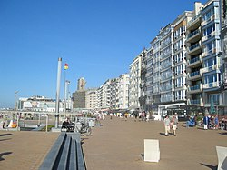 Promenade at Ostend seaside.