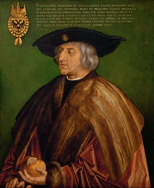 Swabian War - Emperor Maximilian I in a painting from 1519 by Albrecht Dürer.