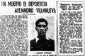 Alejandro Villanueva Obituary from El Comercio (1944).png