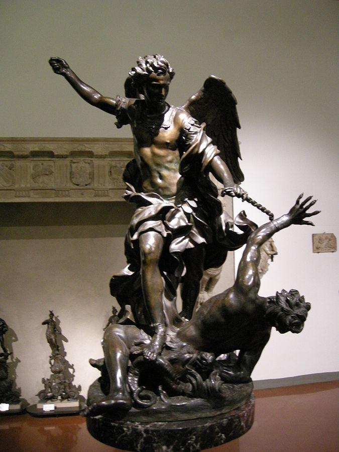 San Michele arcangelo abbatte il demonio