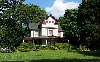 National Register of Historic Places listings in Benton County, Arkansas - Image: Alfrey Brown House 001