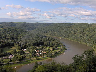 Allegheny River bei East Brady in Pennsylvania