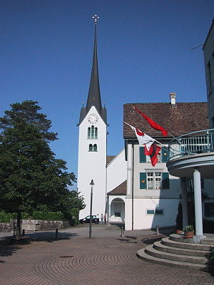 Altendorf, Schwyz - The church of Altendorf