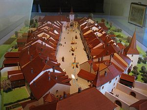 Le Landeron - Model of the old town of Le Landeron