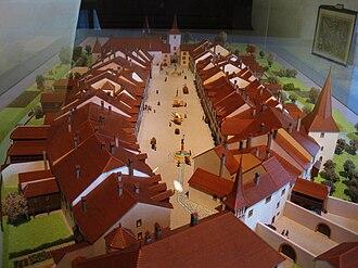 Le Landeron - Model of the old town of Le Landeron