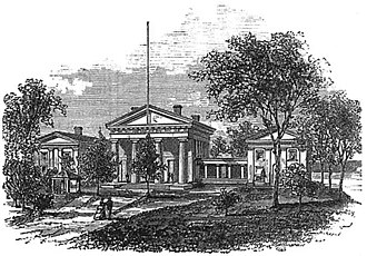 Old State House Museum (Little Rock, Arkansas) - Drawing of the State House in the 1870s, during the William R. Miller administration