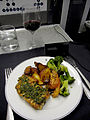 American Airlines.Airline meal.business class.JFK-GIG.2011.JPG