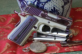 Kimber Manufacturing - Kimber Amethyst Ultra II 1911 with 3-inch bull barrel PVD  finish with engraving