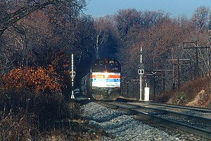 Amtrak 271 with the Blue Ridge, December 1980.jpg