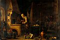 An alchemist in his laboratory. Oil painting by a follower o Wellcome V0017636.jpg