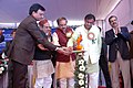 Ananthkumar lighting the lamp at the foundation stone laying ceremony of the Boys & Girls Hostel of Central Institute of Plastic Engineering and Technology (CIPET), at Sonipat, in Haryana on January 20, 2015.jpg