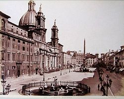 Piazza Navona (James Anderson, 1813-1877)