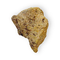 Andersonite on sandstone Hydrous sodium calcium uranium carbonate Monte Cristo Mine Moab Grand County Utah 2271.jpg