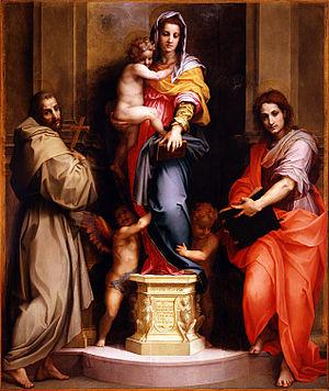 Madonna of the Harpies - Image: Andrea del Sarto Madonna delle Arpie Google Art Project