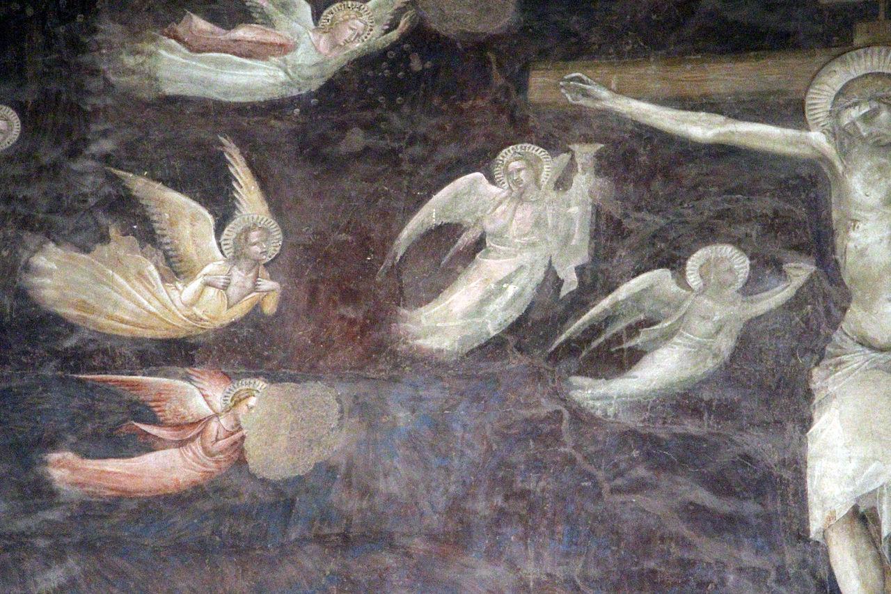 Andrea Orcagna, Cenacolo, particolare della Crocifissione, Santo Spirito (Fondazione Salvatore Romano), 1360-65 ca.)