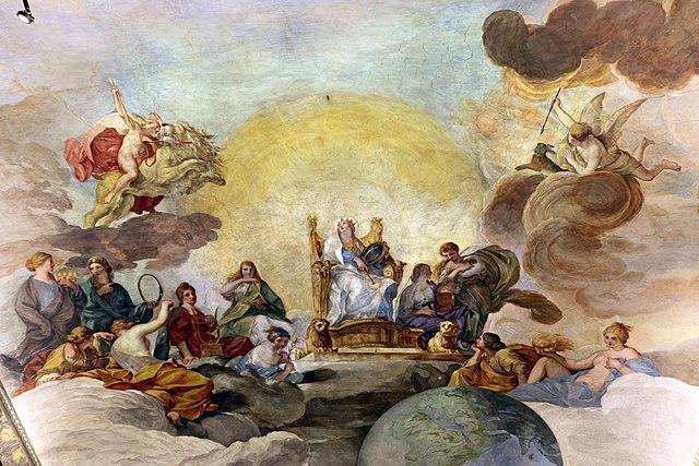 Андреа Сакки. Аллегория Божественной мудрости. Палаццо Барберини, 1629—1633