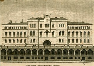 Det nye Kristiania; Raadhuset og Bazaren ved Youngstorvet.