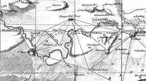 Anglo-French Survey (1784–1790) - The first triangles surveyed