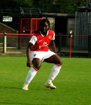 Anita Asante - Asante playing for Arsenal