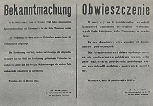 Hans Frank - Announcement of the execution of 50 Polish hostages as a reprisal for blowing up railway lines near Warsaw