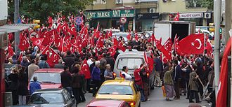 Kurdish–Turkish conflict (1978–present) - A demonstration against the PKK in Kadıköy, İstanbul on 22 October 2007