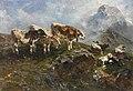 Anton Braith Kälber und Schafe im Hochgebirge 1904.jpg