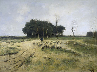 "Gooi - ""Heath at Laren"", Anton Mauve, 1887"