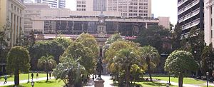 ANZAC Square, Brisbane - ANZAC Square—the statue in the centre of the photo is a memorial to Queenslanders who fought during the Second Boer War—1899–1902