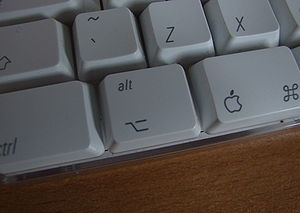 The Alt key on an Apple keyboard